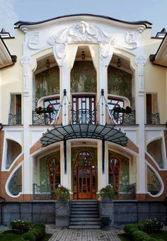 Art Nouveau facade, Moscow. Photographer unknown. via Venice Clay Artists