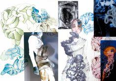 Fashion Sketchbook - human organs theme - fashion design & development; fashion design portfolio