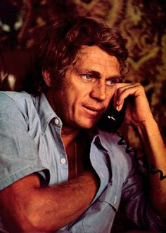 steve McQueen on the phone