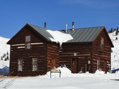 """Section House, 1882, sits at 11,481 feet atop Boreas Pass. It's owned by the U.S. Forest Service and operated by the Summit Hut Association. I was never so thankful to see a building as I was on January 1, 2011, when the six children and six adults in our group arrived safely after a 4.5 mile snowshoe trek. Wind chill was negative 40 degrees! Every inch of everyone was covered; water bottles, radios, and snacks froze. Who knew Boreas was the god of the north wind?"" #PreserveCO"