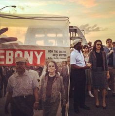 Behind the scenes of Ava DuVernay's Selma: a comparison between the Ebony cover reference photo and actors David Oyelowo and Carmen Ejogo on set in character as Martin Luther King Jr. and Coretta Scott King.