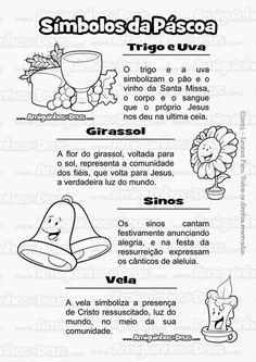 simbolos da pascoa desenho para colorir