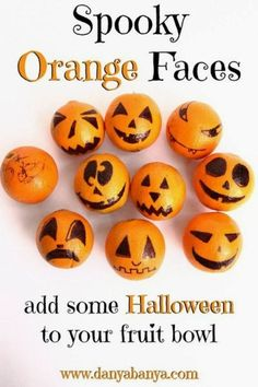 Spooky Orange Faces ~ Danya Banya