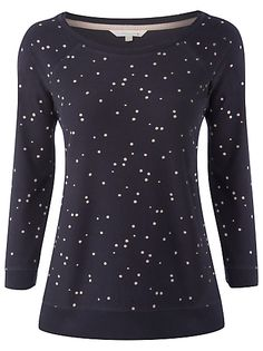 Buy White Stuff Kyoto Spotted Top, Oil online at JohnLewis.com - John Lewis