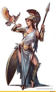 YamaOrce,artist,athena,art барышня,красивые картинки,древняя греция,Древнегреческая мифология