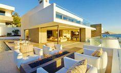 Modern beachfront property