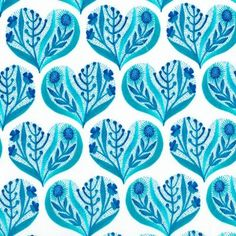 Hearts in Blue in Alegria by Gennine D. Zlatkis for Cloud 9 -- debuts Feb. Pretty Patterns, Heart Patterns, Surface Pattern, Surface Design, Sew Mama Sew, Cloud 9, Textile Patterns, Pattern Design, Prints