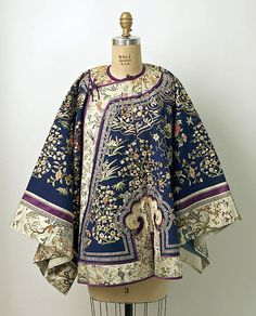 The Metropolitan Museum of Art – Qing Dynasty Embroidered Jacket 2019 – Sommer Garten Hochzeits Kleider Ethnic Fashion, Asian Fashion, Look Fashion, Fashion Design, Chinese Fashion, Winter Fashion, Fashion Tips, Vintage Outfits, Vintage Dresses