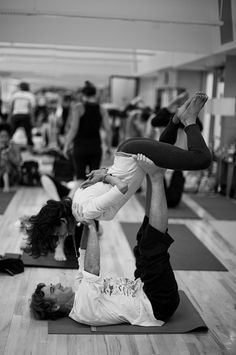 trust, grace, unwind: partner yoga is awesome