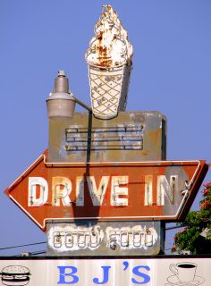 Vintage A Drive-In Neon sign - Erin, TN. This is my hometown