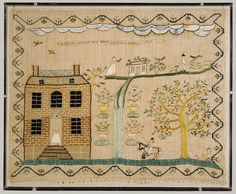 Embroidered sampler, 1799
