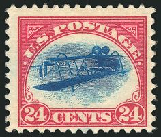 "Inverted Jenny - the most valuable postage stamp in history; it was recently in the news again (links pasted below) and also see the section titled ""A famous stamp"" for some earlier stories about it Old Stamps, Rare Stamps, Vintage Stamps, Timbre Canada, Stamp Auctions, Going Postal, Tampons, Stamp Collecting, Mail Art"