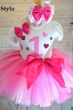 Birthday Tutu Set order or follow us on Facebook ; www.facebook.com/... #birthday #pinktutu #first #hearts #styloboutique