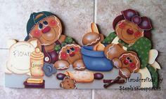 Handpainted Gingerbread Door Crown, Door Topper,Kitchen Decor,Gingerbread Collector,Home Decor