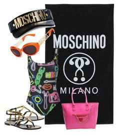 """""""PoolParty"""" by nickienicole1 on Polyvore featuring Moschino, Love Moschino, beachparty and poolparty"""
