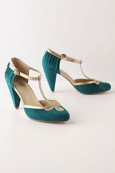 teal. t-strap. suede. love....(i know i pinned these in metallic too...theyre so cute!)