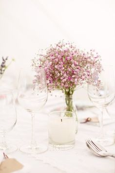 Is that purple baby's breath?! LOVE. (SMP - Photography: Caught the Light - http://www.stylemepretty.com/gallery/picture/1011616/)