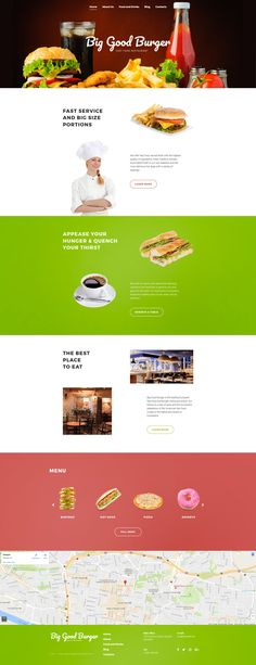 Fast Food Restaurant Responsive Moto CMS 3 Template #59549