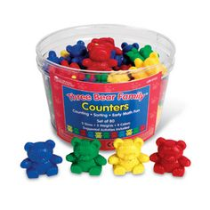 Learning Resources Three Bear Family Counters, Educational Counting and Sorting Toy, Rainbow, Set of 96 Ages Numbers Kindergarten, Kindergarten Math Activities, Fun Math, Maths, Measurement Activities, Preschool Curriculum, Preschool Lessons, Preschool Art, Montessori Trays