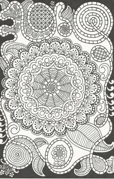 Mandala, Flowers and Crazy Swirls! by Patricia Hill on Etsy, $1.50