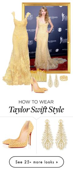 """Taylor Swift – 2011 Academy Of Country Music Awards."" by foreverforbiddenromancefashion on Polyvore featuring Elie Saab, Rauwolf, Christian Louboutin, Sutra and country"
