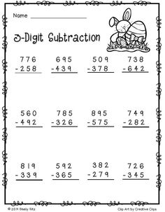 Free Second Grade Math Sheets Pictures - Second Grade Math Free Educational Worksheets - Free Educational Worksheets Easter Worksheets, 2nd Grade Math Worksheets, Second Grade Math, Summer Worksheets, Subtraction Worksheets, Free Worksheets, Printable Worksheets, Free Printables, Math Enrichment