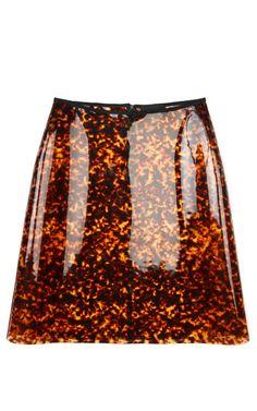 Simone Rocha Leopard Pvc A-Line Skirt