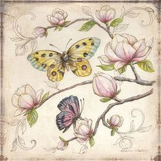 Le Jardin Butterfly IV Wall Art
