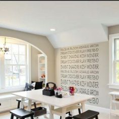 That window seat is great. And the saying on the wall is very cool. From Houzz