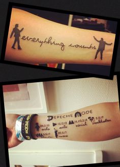 My Depeche Mode tattoos <3