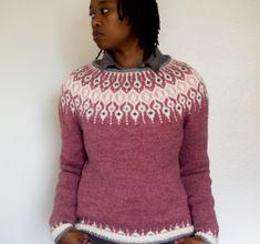 Ravelry: Telja pattern by Jennifer Steingass Fair Isle Knitting Patterns, Sweater Knitting Patterns, Hand Knitting, Nordic Sweater, Icelandic Sweaters, I Cord, Knit In The Round, Hand Knitted Sweaters, Knit Picks