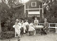 photograph of Carl Larsson family at home. LOVE this artist ~!~