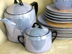 Porcelain Luster ware Rudolf Wachter 'tea set' | Barnegat ...