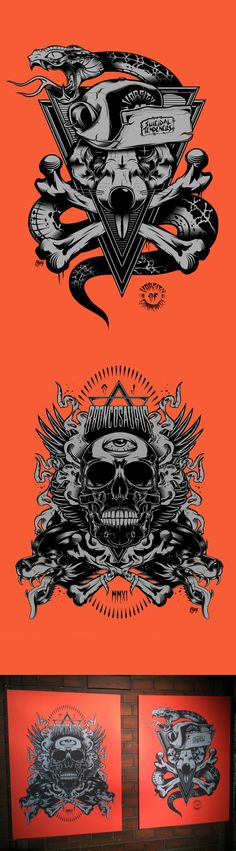 CANVAS PRINT EXHIBITION 2012 by Ojey 80 , via Behance