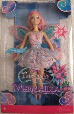 BARBIE 2005 FAIRYTOPIA MERMAIDIA GLITTER SWIRL FAIRY DOLL - RARE #Dolls