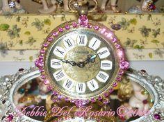 Pink Rhinestone Jeweled Clock  Artists at Beautiful Shops Mall