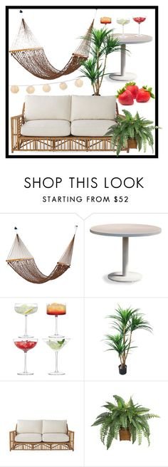 """""""summer garden party"""" by giraffoholic ❤ liked on Polyvore featuring interior, interiors, interior design, home, home decor, interior decorating, Harbour Outdoor, LSA International, TradeMark and Serena & Lily"""