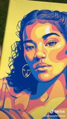 Pop Art Portraits, Portrait Art, Potrait Painting, Posca Art, Arte Sketchbook, Art Drawings Sketches Simple, Aesthetic Art, Cartoon Art, Watercolor Art