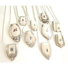 Silverware End Initial Necklace - $32.00