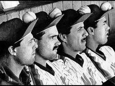 Mets Rally Caps - Tim Teufel, Howard Johnson, Bobby Ojeda and Ron Darling