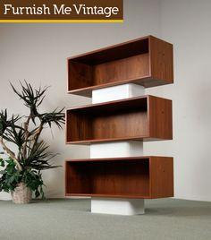 Modular Danish teak bookshelf/coffee station?