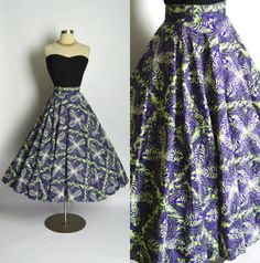 1940's 1950's Vintage Purple and Lime Green by RubyFayesVintage