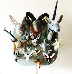 ANIMAL TROPHY アニマルトロフィー Animal Head Decor, Animal Heads, Faux Taxidermy, Handicraft, Playroom, Wall Decor, Nursery, Christmas Ornaments, Holiday Decor