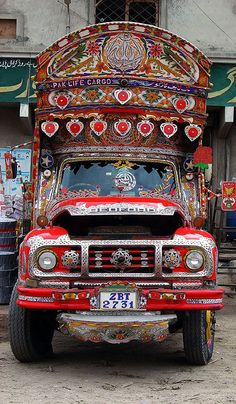 Pakistanis have the most awesomely decorated cargo trucks.