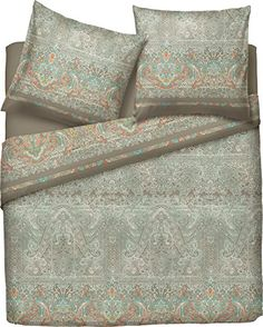 Bassetti 9281612 Michelle V4 Bettwäsche-Set, 2 teilig, Ba… Bed, Home, Green Rose, Cotton, Stream Bed, House, Ad Home, Homes, Beds