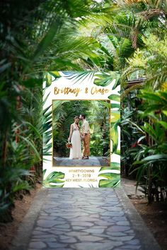 Wedding Photo Booth Frame Tropical Photo Booth Props Wedding Photo Booth Photo Props Wedding Sign Photo Prop Gold - Photo Editing - Edit photos with online editing tools - Wedding Photo Booth Frame Wedding Photo Prop Gold Wedding Wedding Photo Booth Props, Diy Photo Booth, Photo Booth Backdrop, Photo Booths, Wedding Frames, Wedding Signs, Wedding Reception, Wedding Photos, Gold Wedding