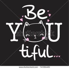 slogan graphic with cat