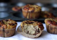 Cinnamon Bun Muffins {using Coconut Flour} With Coconut Flour, Baking Soda, Salt, Eggs, Coconut Milk, Honey, Ground Cinnamon, Honey, Unsalted Butter, Chopped Walnuts