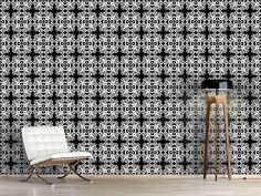 Design #Tapete Antiker Glanz Curtains, Shower, Prints, Design, Self Adhesive Wallpaper, Sparkle, Wall Papers, Monochrome, Rain Shower Heads