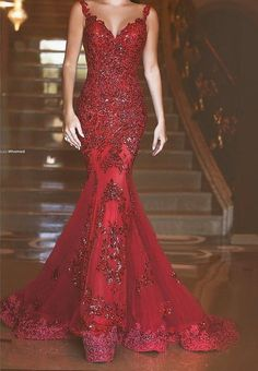 dress and red crimson dresses gown gowns homecoming prom gem gems design designed designer designs princess mermaid cut fit straps ruby rubies dance ball event elegant beautiful flare train